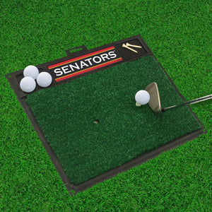 "Ottawa Senators  Golf Hitting Mat 20"" x 17"""