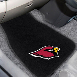 "Arizona Cardinals 2-Piece Embroidered Car Mat Set - 17""x25.5"""