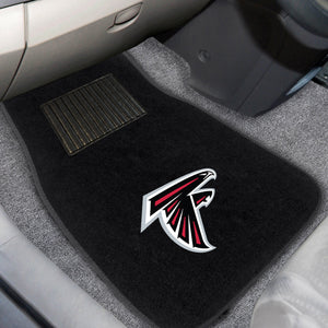"Atlanta Falcons  2-Piece Embroidered Car Mat Set - 17""x25.5"""