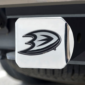 Anaheim Ducks Chrome Emblem On Chrome Hitch Cover