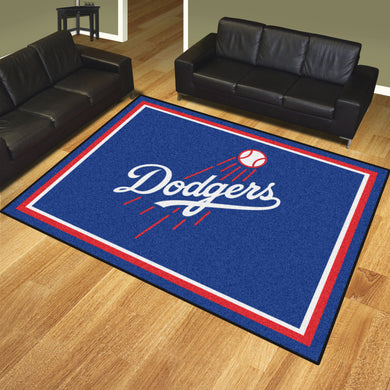 Los Angeles Dodgers Script Plush Rug - 8'x10'