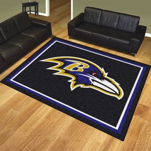 Baltimore Ravens Plush Area Rugs -  8'x10'