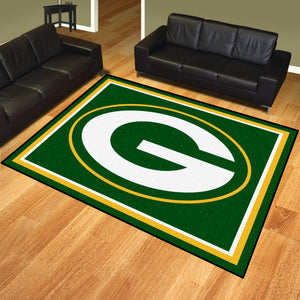 Green Bay Packers Plush Area Rugs -  8'x10'