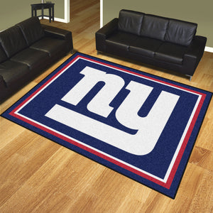 New York Giants Plush Area Rugs -  8'x10'