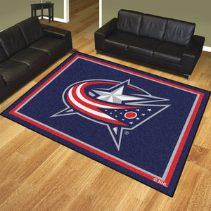 Columbus Blue Jackets Plush Rug - 8'x10'