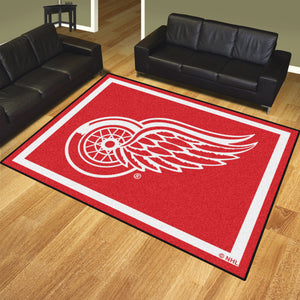 Detroit Red Wings Plush Rug - 8'x10'