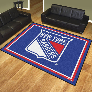 New York Rangers Plush Rug - 8'x10'