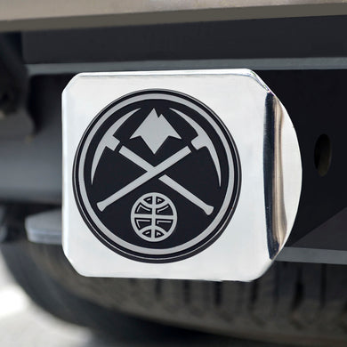 Denver Nuggets Chrome Hitch Cover