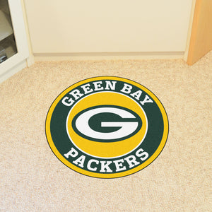 Green Bay Packers Round Mat - 27""