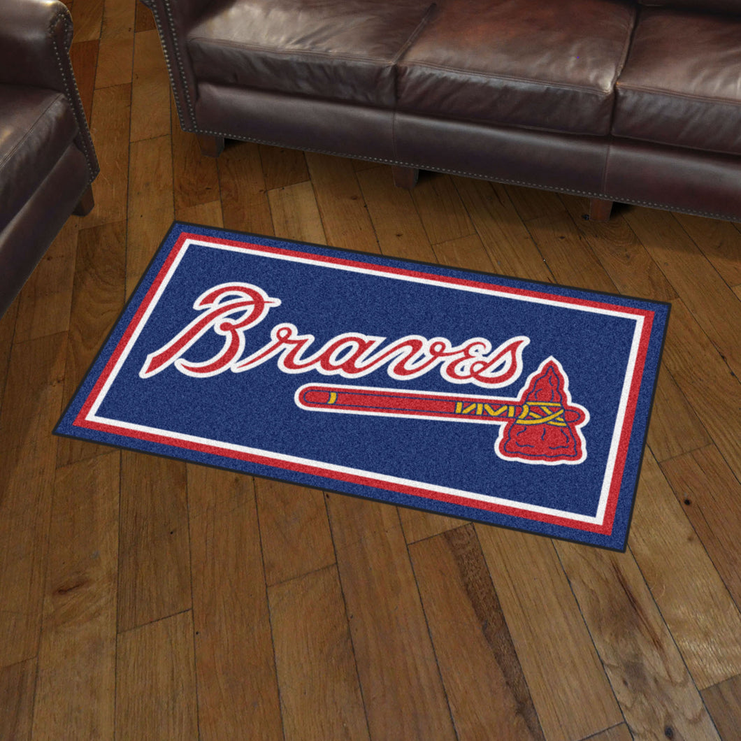 Atlanta Braves Plush Rug - 3'x5'