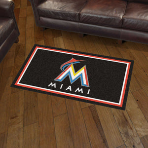 Miami Marlins Plush Rug - 3'x5'