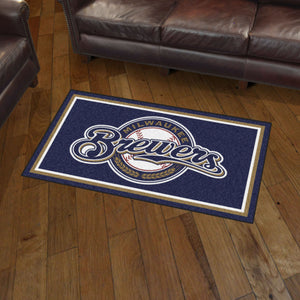 Milwaukee Brewers Plush Rug - 3'x5'