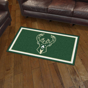 Milwaukee Bucks Plush Rug - 3'x5'