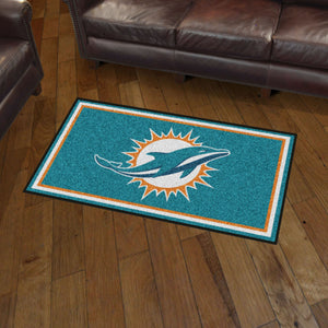 Miami Dolphins Plush Rug 3 X5 Sports Fanz