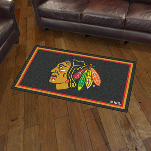 Chicago Blackhawks Plush Rug - 3'x5'