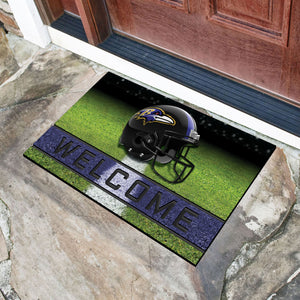 "Baltimore Ravens Crumb Rubber Door Mat - 18""X30"""