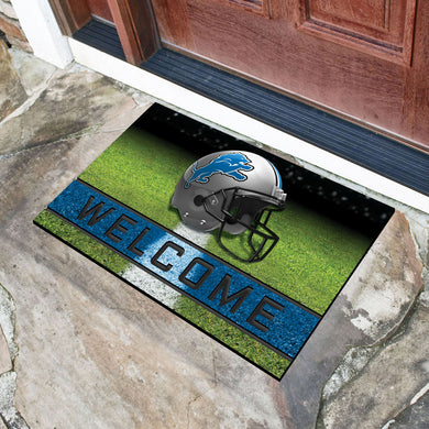 Detroit Lions Crumb Rubber Door Mat - 18