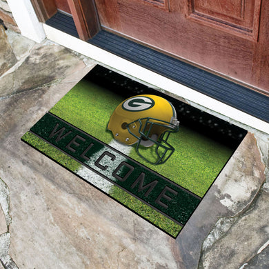 Green Bay Packers Crumb Rubber Door Mat - 18