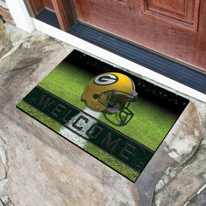 "Green Bay Packers Crumb Rubber Door Mat - 18""X30"""