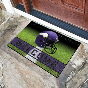 "Minnesota Vikings Crumb Rubber Door Mat - 18""X30"""