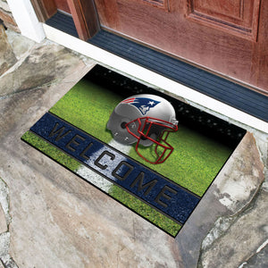 "New England Patriots Crumb Rubber Door Mat - 18""X30"""