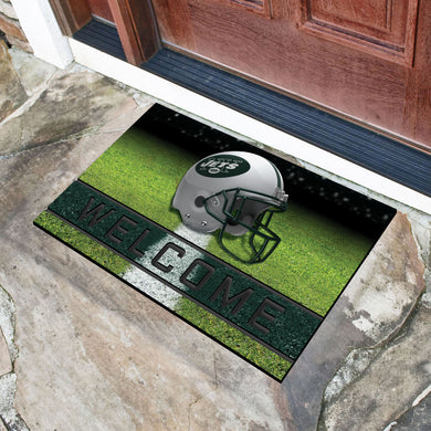 New York Jets Crumb Rubber Door Mat - 18