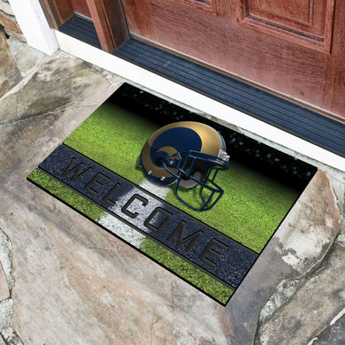Los Angeles Rams Crumb Rubber Door Mat - 18