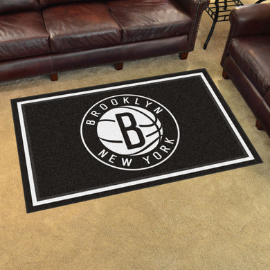 Brooklyn Nets Plush Rug - 4'x6'