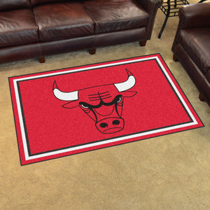 Chicago Bulls Plush Rug - 4'x6'