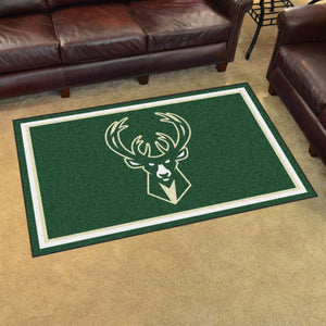 Milwaukee Bucks Plush Rug - 4'x6'