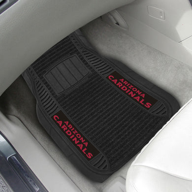 Arizona Cardinals 2-piece Deluxe Car Mat Set 21
