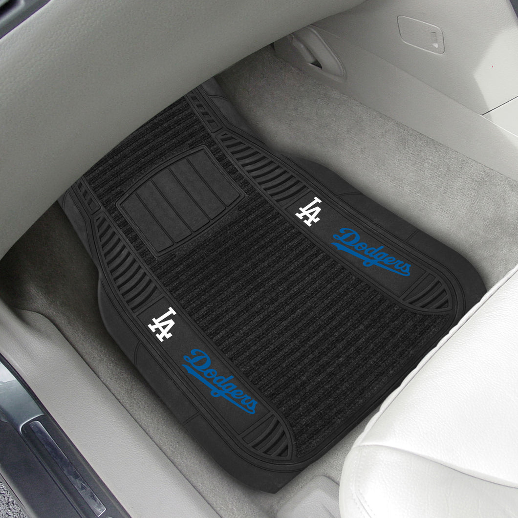 Los Angeles Dodgers 2-pc Deluxe Car Mat Set - 21