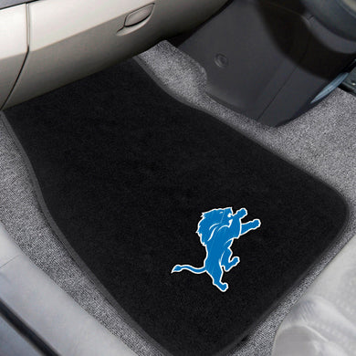 Detroit Lions  2-Piece Embroidered Car Mat Set - 17