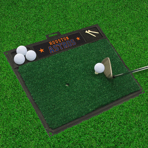 "Houston Astros Golf Hitting Mat 20"" x 17"""