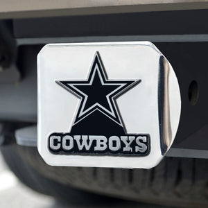Dallas Cowboys Chrome Emblem on Chrome Hitch Cover