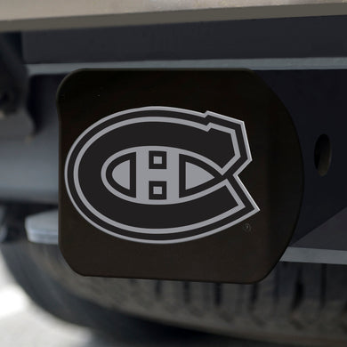 Montreal Canadiens Chrome Emblem On Black Hitch Cover