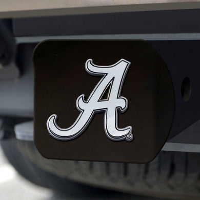 Alabama Crimson Tide Chrome Emblem On Black Hitch Cover