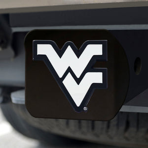 West Virginia Mountaineers Chrome Emblem On Black Hitch Cover