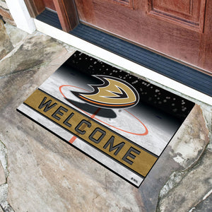 "Anaheim Ducks Crumb Rubber Door Mat - 18""x30"""