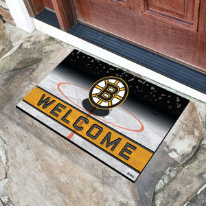"Boston Bruins Crumb Rubber Door Mat - 18""x30"""
