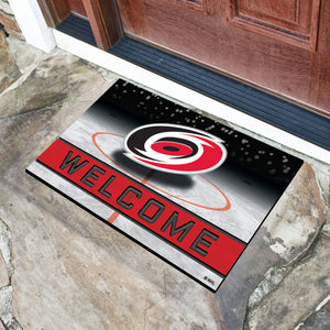 "Carolina Hurricanes Crumb Rubber Door Mat - 18""x30"""