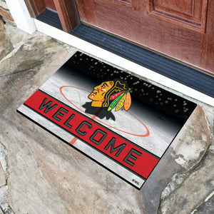 "Chicago Blackhawks Crumb Rubber Door Mat - 18""x30"""