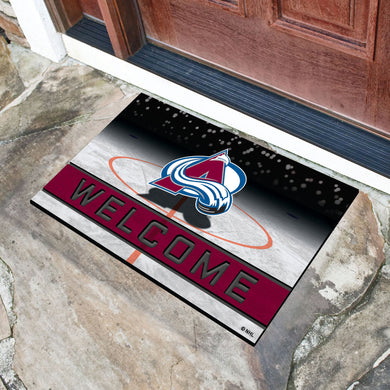 Colorado Avalanche Crumb Rubber Door Mat - 18