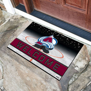 "Colorado Avalanche Crumb Rubber Door Mat - 18""x30"""