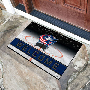 "Columbus Blue Jackets Crumb Rubber Door Mat - 18""x30"""