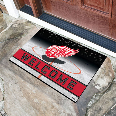 Detroit Red Wings Crumb Rubber Door Mat - 18