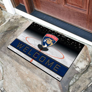 "Florida Panthers Crumb Rubber Door Mat - 18""x30"""