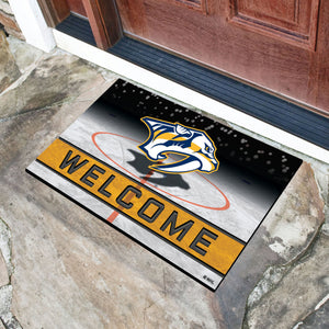 "Nashville Predators Crumb Rubber Door Mat - 18""x30"""