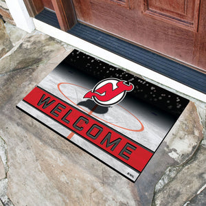 "New Jersey Devils Crumb Rubber Door Mat - 18""x30"""