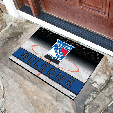 New York Rangers Crumb Rubber Door Mat - 18